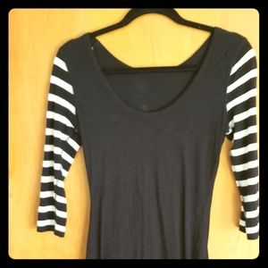 Express size small black long tight 3/4 sleeve